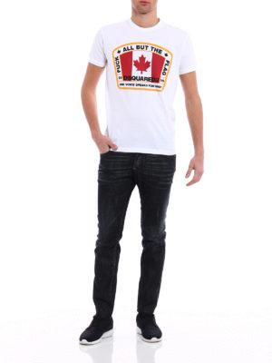 Dsquared2: straight leg jeans online - City Biker black denim jeans