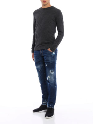 Dsquared2: straight leg jeans online - Clement used effect jeans