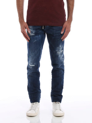 Dsquared2: straight leg jeans online - Cool Boy worn out jeans