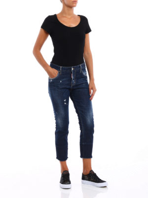 Dsquared2: straight leg jeans online - Cool Girl cropped jeans