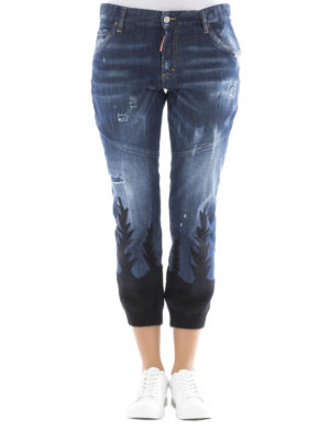 Dsquared2: straight leg jeans online - Cool Girl knit bottom jeans