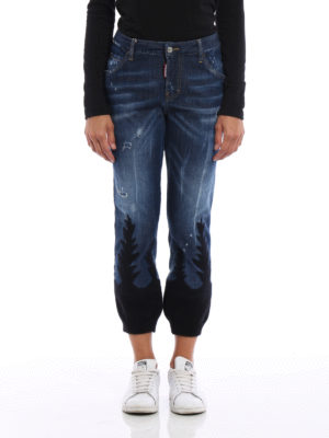 Dsquared2: straight leg jeans online - Cool Girl knitted bottom jeans