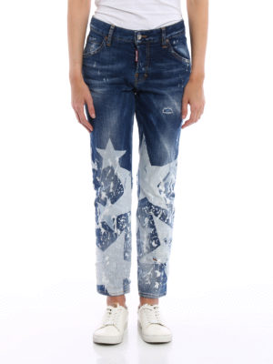 Dsquared2: straight leg jeans online - Cool Girl long crotch jeans