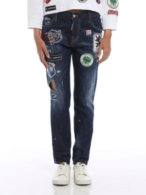Dsquared2: straight leg jeans online - Cool Girl patch jeans