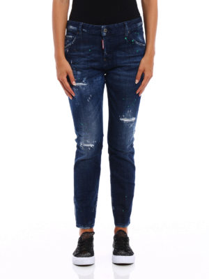 Dsquared2: straight leg jeans online - Cool Girl used effect jeans