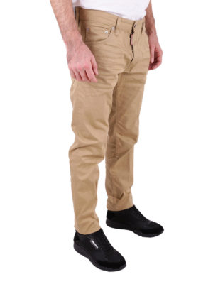 Dsquared2: straight leg jeans online - Cool Guy beige stretch cotton jeans