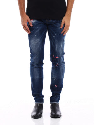 Dsquared2: straight leg jeans online - Cool Guy embroidered jeans