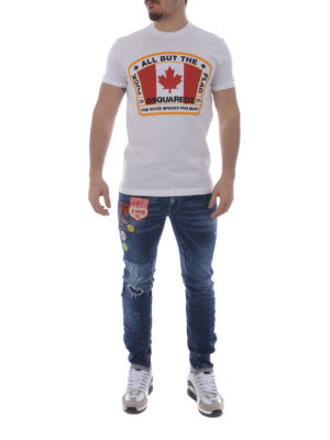 Dsquared2: straight leg jeans online - Cool Guy jeans with patches