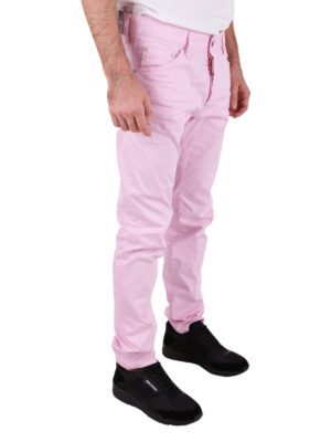 Dsquared2: straight leg jeans online - Cool Guy pink stretch cotton jeans