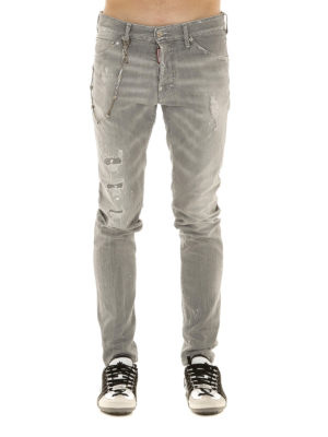 Dsquared2: straight leg jeans online - Cool Guy spotted denim jeans