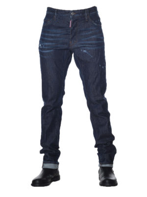Dsquared2: straight leg jeans online - Cool Guy stone washed denim jeans