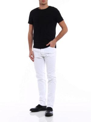 Dsquared2: straight leg jeans online - Cool Guy white denim jeans