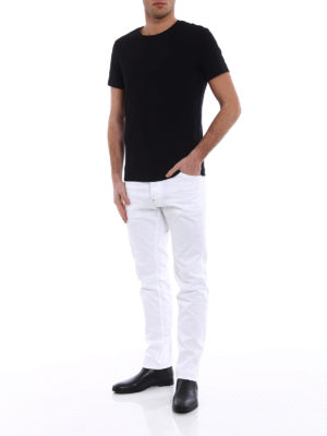 Dsquared2: straight leg jeans online - Cool Guy white stretch cotton jeans