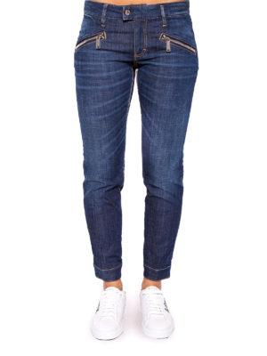 Dsquared2: straight leg jeans online - Dark Easy Biker slim jeans