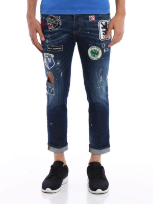 Dsquared2: straight leg jeans online - Glam Head jeans