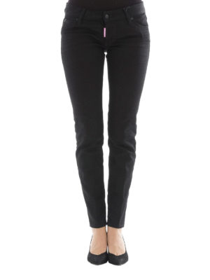 Dsquared2: straight leg jeans online - Jennifer black denim jeans