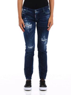 Dsquared2: straight leg jeans online - Jennifer bleached jeans