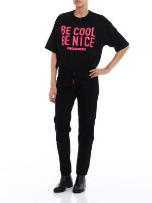 Dsquared2: straight leg jeans online - Jennifer low crotch black jeans