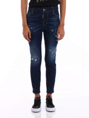 Dsquared2: straight leg jeans online - Londean varnish spots jeans