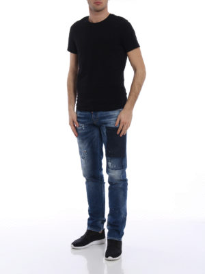 Dsquared2: straight leg jeans online - Pocket shadow denim jeans