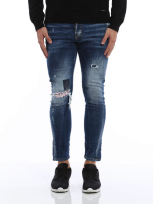 Dsquared2: straight leg jeans online - Sexy Twist faded jeans