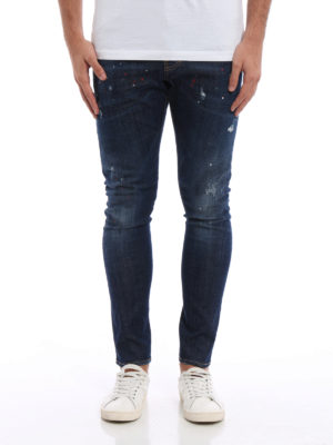 Dsquared2: straight leg jeans online - Sexy Twist spotted jeans