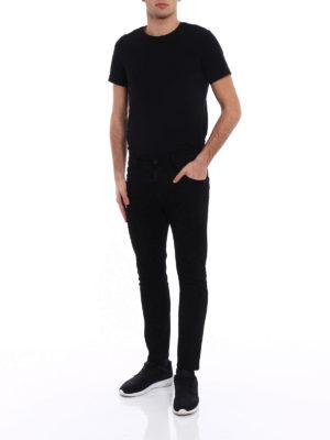 Dsquared2: straight leg jeans online - Skater black denim jeans