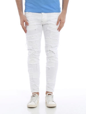 Dsquared2: straight leg jeans online - Skater distressed jeans