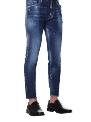 Dsquared2: straight leg jeans online - Skater faded jeans