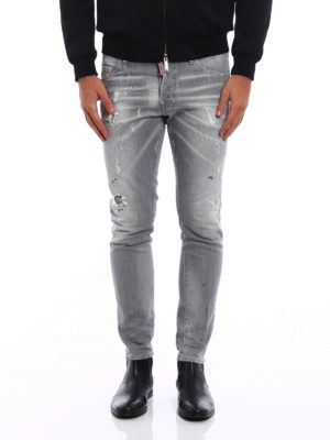 Dsquared2: straight leg jeans online - Skater long crotch jeans