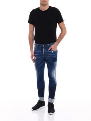 Dsquared2: straight leg jeans online - Skater turned-up jeans