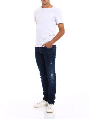 Dsquared2: straight leg jeans online - Slim jeans with varnish spots