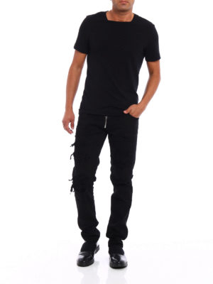 Dsquared2: straight leg jeans online - Slim worn out cotton jeans