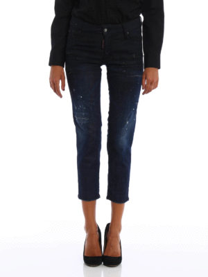 Dsquared2: straight leg jeans online - Spotted faded jeans