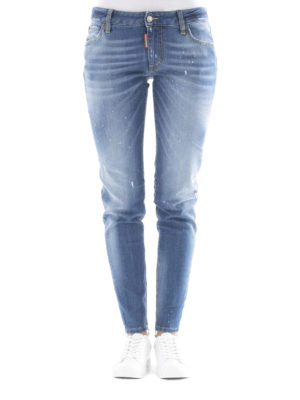 Dsquared2: straight leg jeans online - Twiggy medium-waist jeans