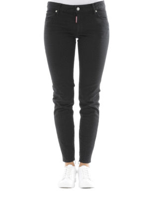 Dsquared2: straight leg jeans online - Twiggy stretch denim jeans