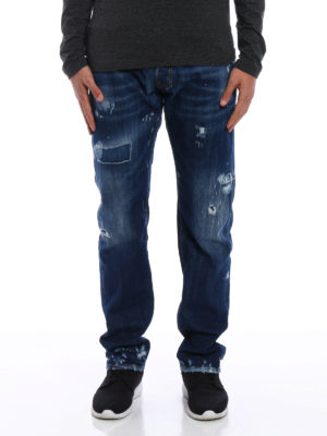 Dsquared2: straight leg jeans online - Used effect jeans