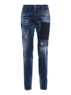 Dsquared2: straight leg jeans - Pocket shadow denim jeans