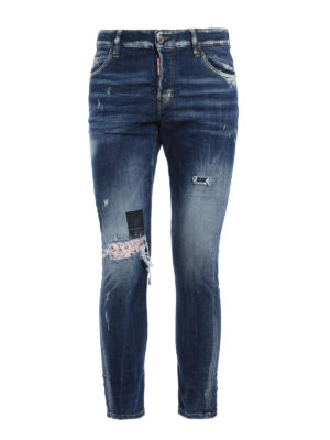 Dsquared2: straight leg jeans - Sexy Twist faded jeans