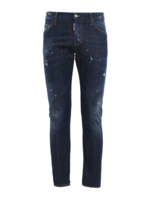 Dsquared2: straight leg jeans - Sexy Twist spotted jeans