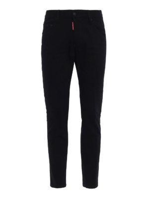 Dsquared2: straight leg jeans - Skater black stretch denim jeans