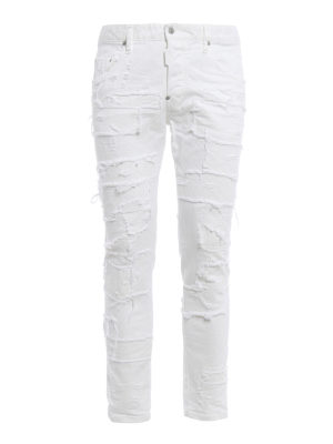 Dsquared2: straight leg jeans - Skater distressed jeans
