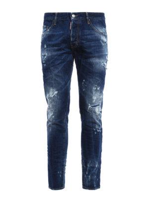 Dsquared2: straight leg jeans - Skater faded denim jeans