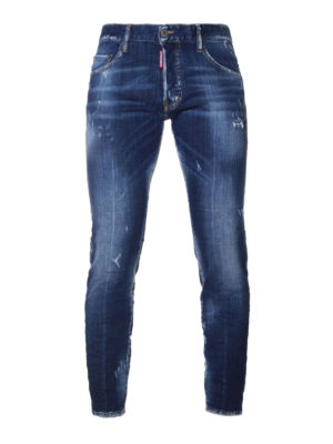 Dsquared2: straight leg jeans - Skater faded jeans