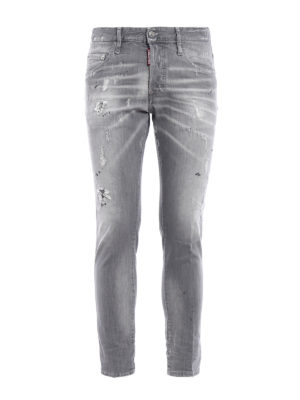 Dsquared2: straight leg jeans - Skater long crotch jeans