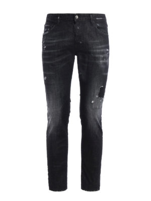 Dsquared2: straight leg jeans - Skater scraped jeans