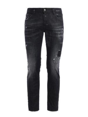 Dsquared2: straight leg jeans - Skater scraped jeans