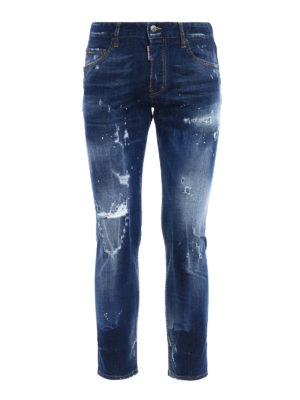 Dsquared2: straight leg jeans - Skater spotted jeans