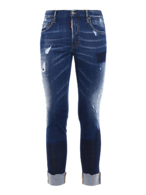 Dsquared2: straight leg jeans - Skater turned-up jeans