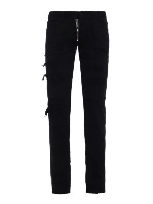 Dsquared2: straight leg jeans - Slim worn out cotton jeans